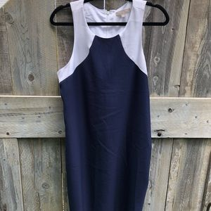 Banana Republic white and blue dress 12